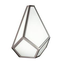 Diamond Wall Light | ideas4lighting | SKU11265I4L Glass Wall Lights, Modern Wall Lights, Modern Lighting, Flush Lighting, Wall Sconce Lighting, Bathroom Lighting, Lighting Direct, Custom Canopy, Diamond Wall