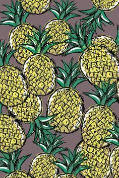 piña - patrones - ilustracion frutas