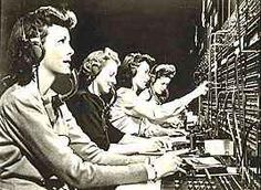 Telephone operators and party lines.