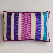 ikat fabric mixed in stripes