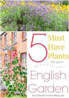5 Must Have Plants for your English Garden | Create the cottage style garden you've always dream about. Start with these 5 plants. #EnglishGarden #englishgardens