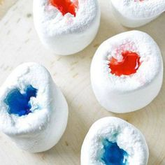 Carve out middle in marshmallows put in Jell-O shots!!