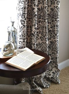 Hometalk | Stencilled Curtains From Drop Cloths