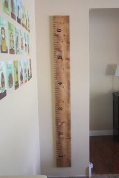 DIY Ruler Growth Chart - Pottery Barn Knock-Off...need upstairs for the boys