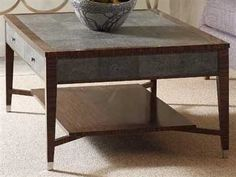 Jonathan Charles Metropolitan collection Shagreen Anthracite Coffee Table Good for Rec Room