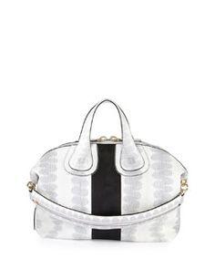 Givenchy Nightingale Medium Ayers Bag, White/Black Spring 2015