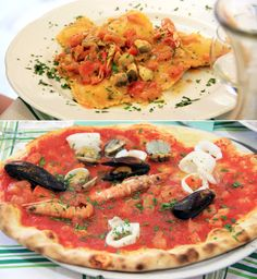 Cinque Terre has some of the best food in Italy. Ravioli with seafood and seafood pizza!