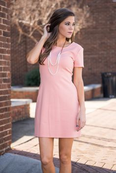 """""""On My Mind Dress, Peach Echo"""" 