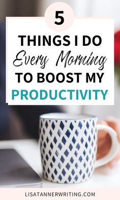 Want to know how to be more productive as a busy mom? One strategy is to start your mornings off right and stay focused on the task at hand. I share five practical tasks I do when I wake up to… Productive Things To Do, Productive Day, Planners, Evening Routine, Thing 1, Productivity Hacks, How To Stop Procrastinating, Time Management Tips, 5 Things