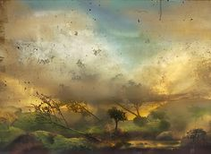 Kim Keever (Reminds me of something out of the Rainbow Goblins. :)