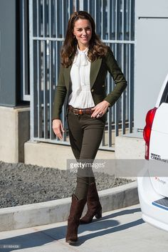 Catherine, Duchess of Cambridge arrives to officially open the new Haida Gwaii Hospital on September 30, 2016 in Haida Gwaii, Canada. Prince William, Duke of Cambridge, Catherine, Duchess of Cambridge, Prince George and Princess Charlotte are visiting Canada as part of an eight day visit to the country taking in areas such as Bella Bella, Whitehorse and Kelowna. (Photo by Dominic Lipinski - Pool / Getty Images)