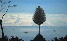 """Dark Matter Tree"" 2005 acryl on canvas 190x130cm"