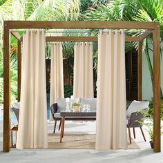 Porch Privacy, Outdoor Privacy, Outdoor Pergola, Backyard Patio, Outdoor Patios, Backyard Ideas, Outdoor Curtains For Patio, Gazebo Curtains, Diy Gazebo