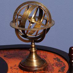 Old Modern Handicrafts Armillary Sphere on Wood Base