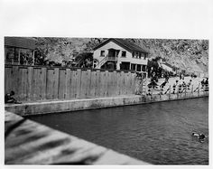 "this isWhite's Point Hot Springs  (also known as ""White Point"") Shown are the saltwater swimming pool and  bath house.  Located along the shore about three miles southeast of Portuguese Bend on property owned by Rámon Sepúlveda, the  resort was built and operated by the Tagami family and was a popular  coastal attraction during the 1920s and 1930s"