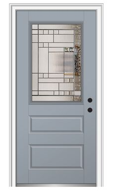 Shown Is A Bristol 2 3/4 Lite 2 Panel Entry Door Painted Rosemary, Visit  DoorBuy.com To Pick Out Your Dream Door Today! | Pinterest | Decorative  Glass ...