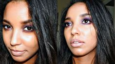 Purple Love!! Used Morphe 35w palette to create this look! Enjoy!   beauty, youtube, youtuber, morphe 35 w, morphe brushes, purple eyeshadow, makeup, makeup tutorials, black girl, black hair,