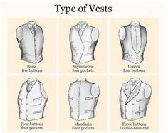 A visual guide to vest types. This is for men, but who cares. Mens Fashion Blog, Fashion Moda, Suit Fashion, Fashion Tips, Fashion Design, Fashion 2016, Urban Fashion, Fashion Styles, Teen Fashion