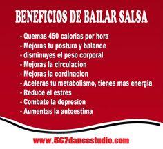 Beneficios de bailar salsa