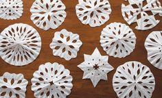 Flocons de neige avec filtre à café!
