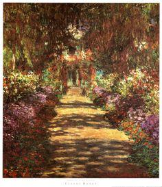 Footpath in the Garden  Claude Monet