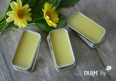 If you look closely at thehomemade lip balm recipes that I've shared to date, you'll note that they have similar ratios of oils, beeswax, etc. Since I often get questions about making substitutions for one ingredient or another, I thought I'd share with you my basic formula that lets me (and now you!) create pretty much any type of lip balm desired. I'm going to give you the formula, then suggestions on which oils, herbs,