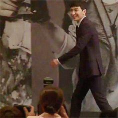 Leeteuk - Super Junior | my favorite part about this gif is that Heechul is watching on the side laughing and running away. I bet it was a dare between the 83-line omfg very possible teuk obvi tripped on purpose. Gdi, our ahjusshi line is so dumb
