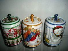 latas recicladas e decoradas com tema a sua escolha. Ideal para lembranças de eventos variados,7,5cm de diametro