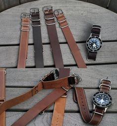 Horween Leather Company Shell Cordovan NATO style watchstraps