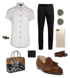 A menswear look from May 2017 featuring mens tall shirts, mens slim fit pants and mens suede shoes. Browse and shop related looks. Bryant Park, Paul Smith, River Island, Yves Saint Laurent, Valentino, Ray Bans, Men's Fashion, Gucci, Ralph Lauren