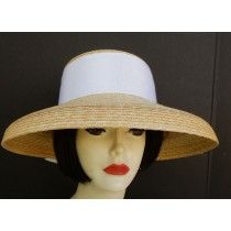 f3e89294 Natural Milan-White Ribbon is a great summer hat