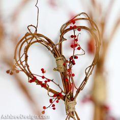Ashbee Design: Valentine Ideas • DIY Twig Heart