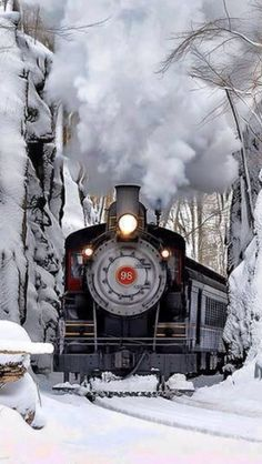 Beautiful image of a steam train