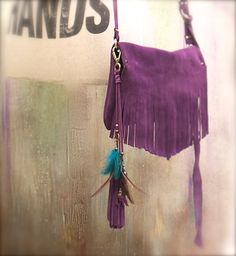 bag charm leather tassel  bag accessories by AgnesDeJuliisShop
