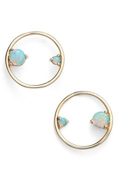 WWAKE Opal Circle Earrings available at #Nordstrom