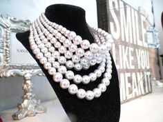 Pearl stack necklace: $33.95