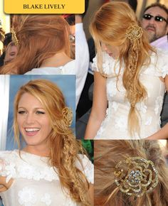 I absolutely love this hair style even though I have no idea what she did. Fish tail braid, braid, twist, and wavy hair? Either way it's so pretty!