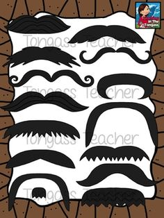 This mustache bundle contains 14 different varieties of mustaches!  Use alone or add to existing clipart to create your own mustache characters!  Please come back and take 10 seconds to leave feedback! I'd really appreciate it and will keep the FREEBIES coming if I get more feedback!Please read my Terms of Use prior to downloading.*COMMERCIAL USERS: Please remember, I require my credit logo to be used in your credits page, including when you use my free clipart.
