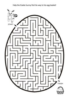 Free Online Printable Kids Games - Easter Egg Hunt Maze