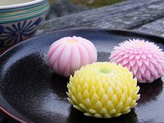 Japanese sweets, hand-made for tea ceremony
