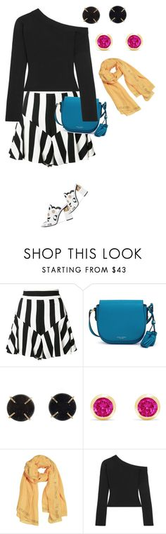 """Untitled #1131"" by clothes-wise ❤ liked on Polyvore featuring Milly, Henri Bendel, Melissa Joy Manning, Effy Jewelry, Solace and Pierre Hardy"