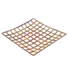 Decorative Platter - Handmade Modern Metal Tabletop Centerpiece - Checkered Pattern - Oxidized Bronze - 31x31cm (12.2'' X 12.2'') Vases, Fabric Gift Bags, Centerpieces, Table Decorations, Fruit Displays, Color Shades, Accent Decor, Creations, Platter