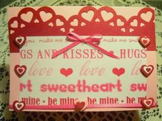 Hugs and kisses homemade Valentine card