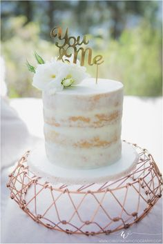 Naked White Chocolate Ganache Wedding Cake