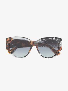 9e12043c0262d Dior Eyewear grey Lady Dior 55 tortoiseshell studded sunglasses Lady Grey