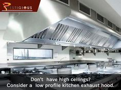 Amazing Consider A Low Profile Kitchen Exhaust Hood. Call