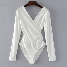 Cheap monos cortos de mujer, Buy Quality sleeve bodysuit directly from China jumpsuit black Suppliers: SheMujerSky Long Sleeve Bodysuit Women Backless Jumpsuits Black White Body femme monos cortos de mujer 2017 High Cut Bodysuit, Ribbed Bodysuit, White Bodysuit, Black Long Sleeve Bodysuit, Backless Bodysuit, Backless Jumpsuit, Pullover Shirt, Body Suit Outfits, Womens Bodysuit