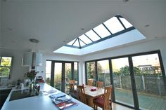 orangery-kitchen-extension cooker facing out :-) Kitchen Orangery, Conservatory Dining Room, Orangery Conservatory, Conservatory Ideas, Bifold Doors Extension, Orangery Extension, Double Storey House, Kitchen Diner Extension, House Extensions