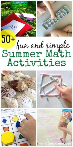 Awesome Homeschool Math Activities: This HUGE list of fun math ideas is perfect for helping your kids hone their math skills over the summer! More than 50 simple summer math ideas to prevent learning loss, while having fun! Math Activities For Kids, Summer Activities For Kids, Math Resources, Summer Kids, Math Games, Summer School, Counting Activities, Summer Picnic, Summer 2016