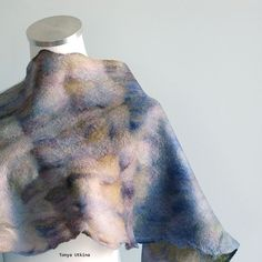 Hand felted light scarf. Hand dyed Malabrigo yarn. #felted #light #scarf @malabrigo